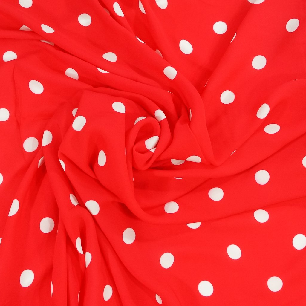 Elie Tahari Blaze Red Polka Dot Viscose