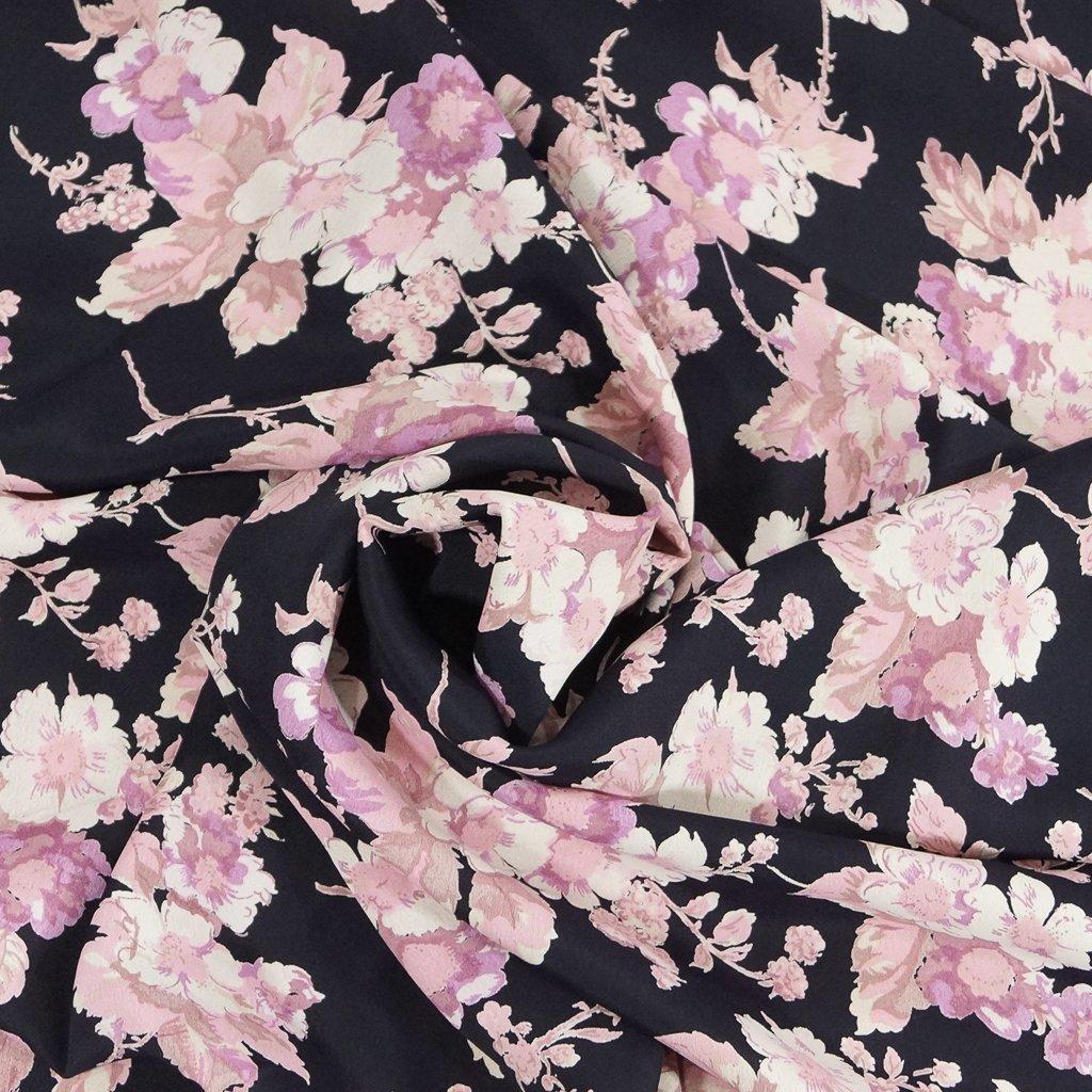 Rayon - Blushing Dramatic Floral Crepe