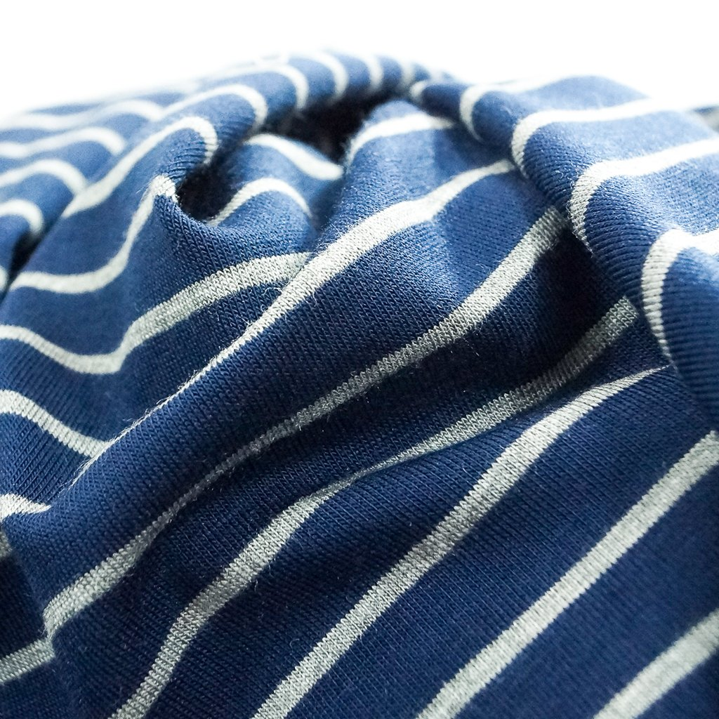 Bamboo Stripe - Navy and Grey