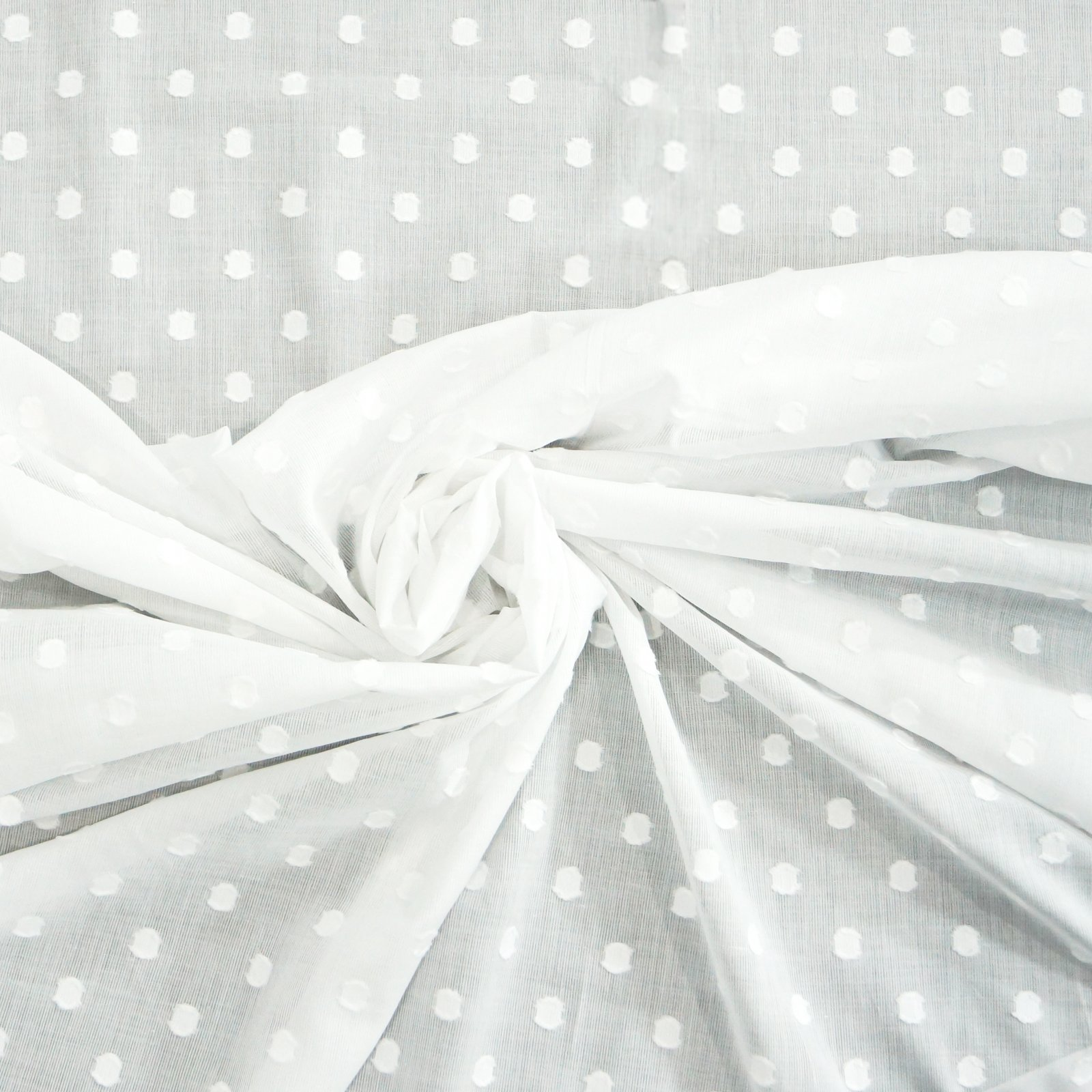 Cotton  - Large Clip-Dot in White