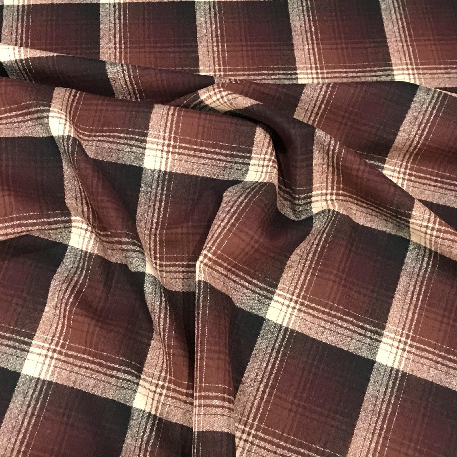 Wool -  Pendleton (TM) Fall Brown/Rust Plaid