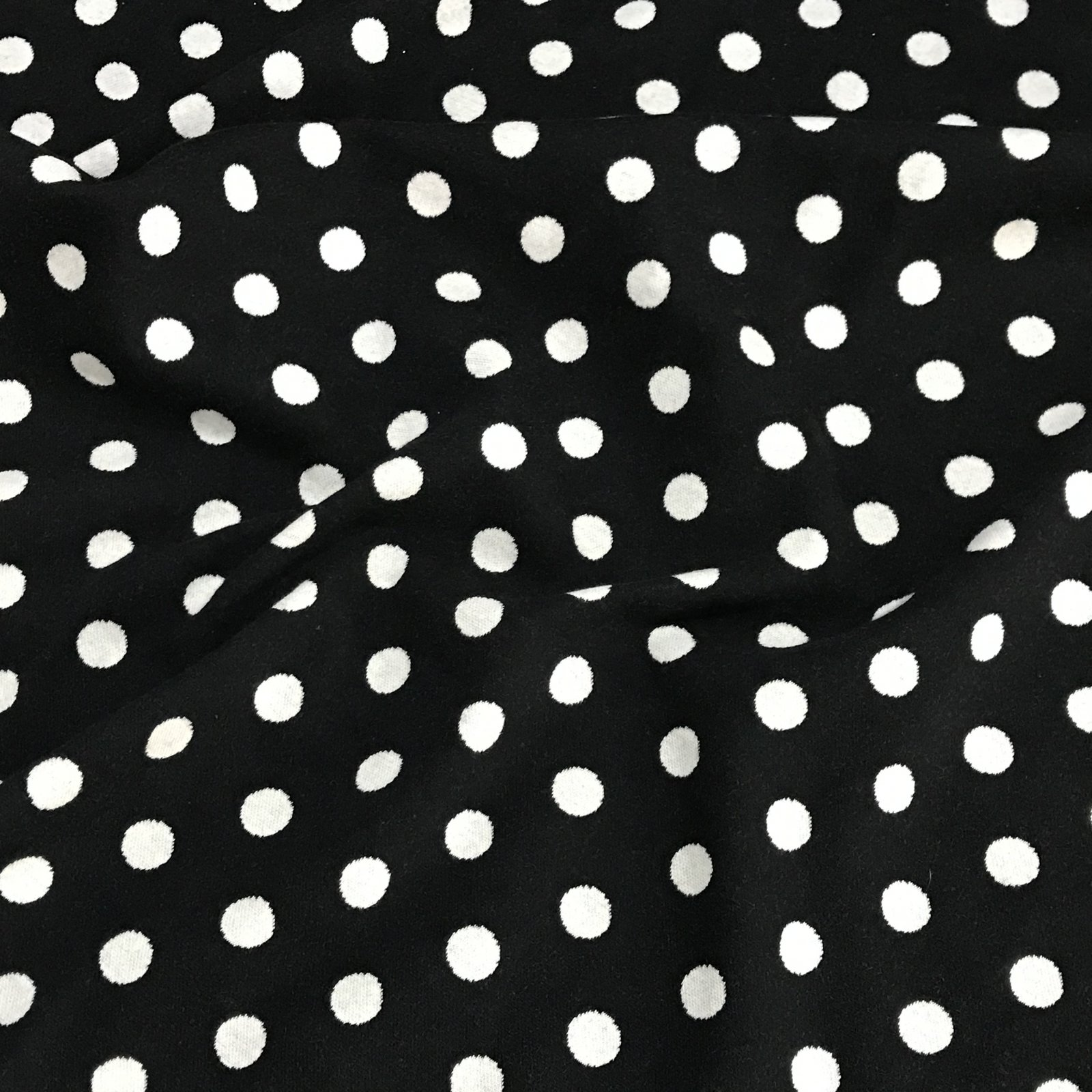 Double Face Sweater Knit - Polka Dots in Black & Ivory