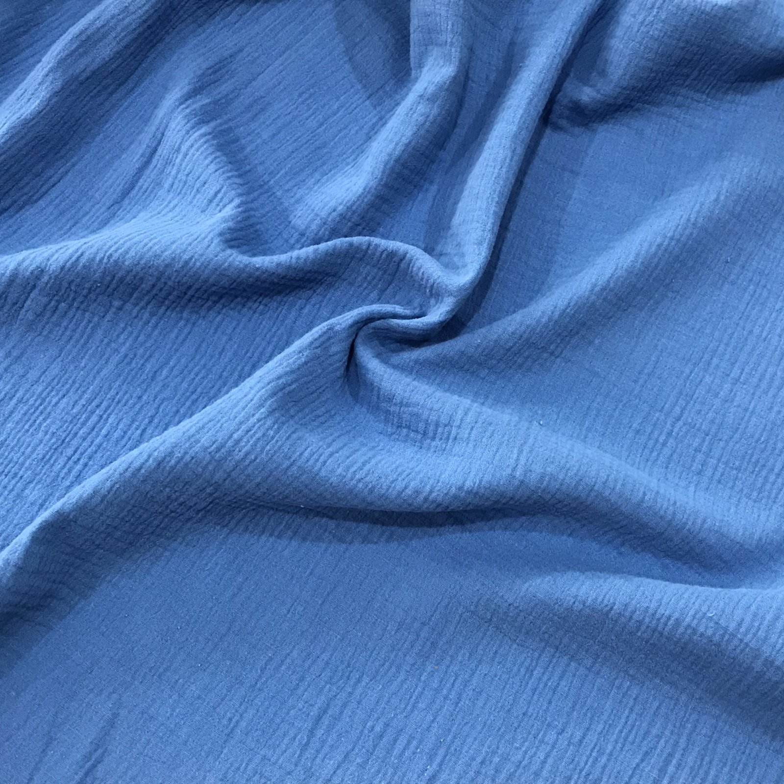 Organic Cotton Double Gauze - Sky Blue