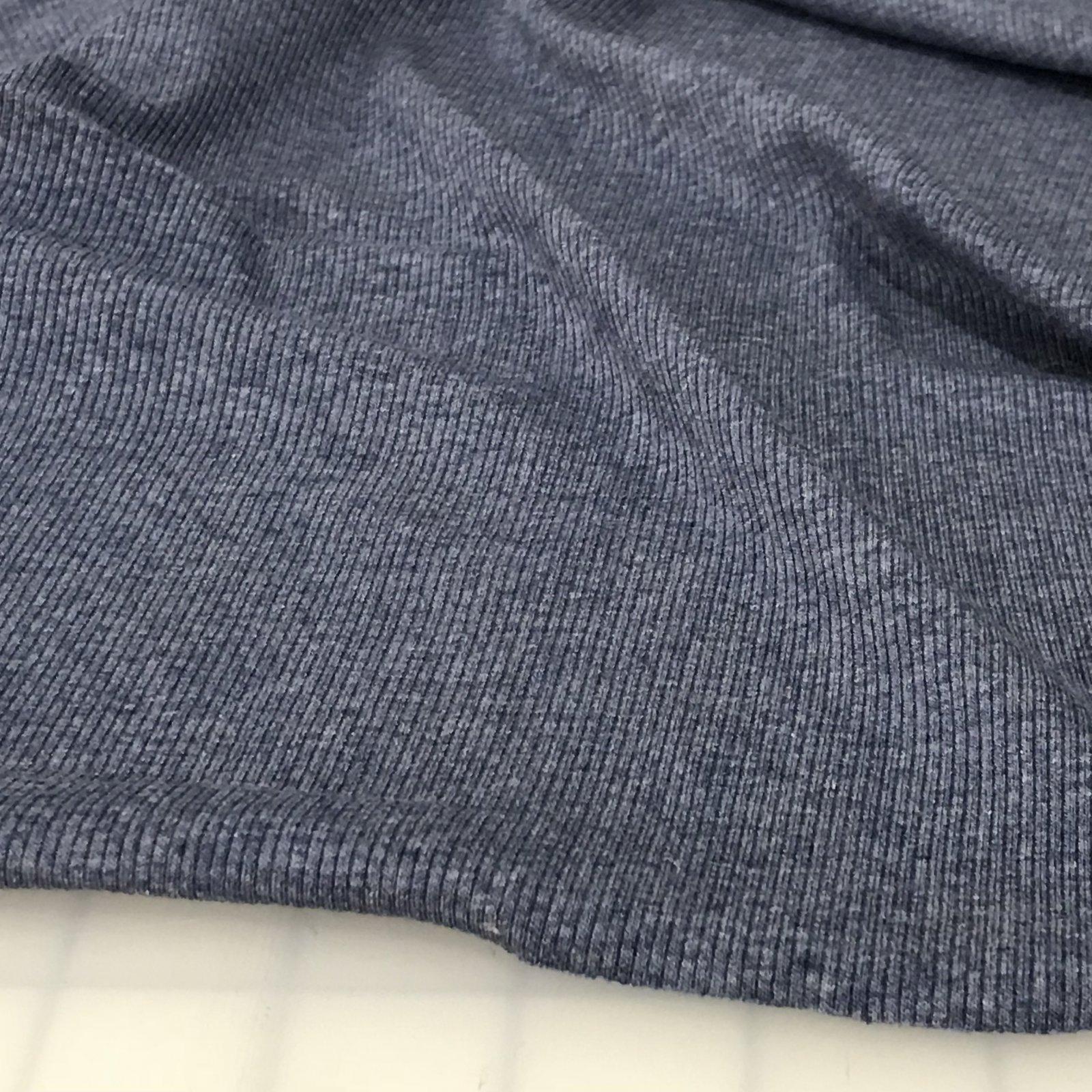 Rib Knit -  2 X 1 - Blue