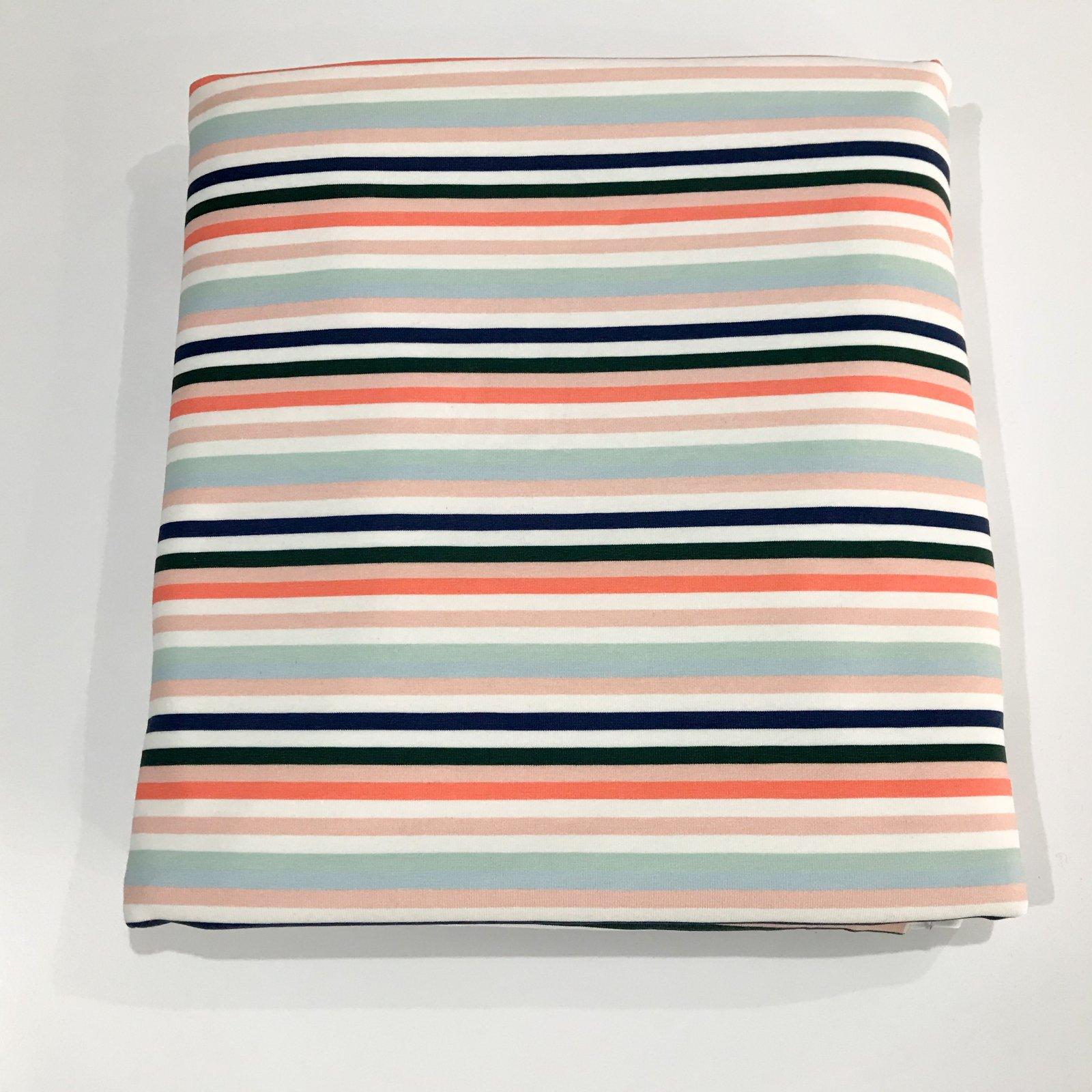 2 1/3 yards - Cotton Knit - Summer Stripes