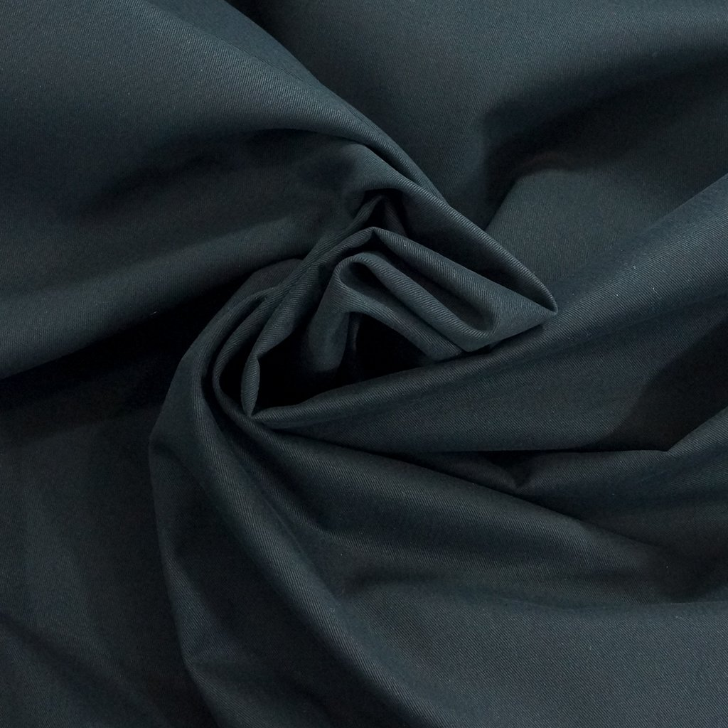 Brushed Chino Twill - Black