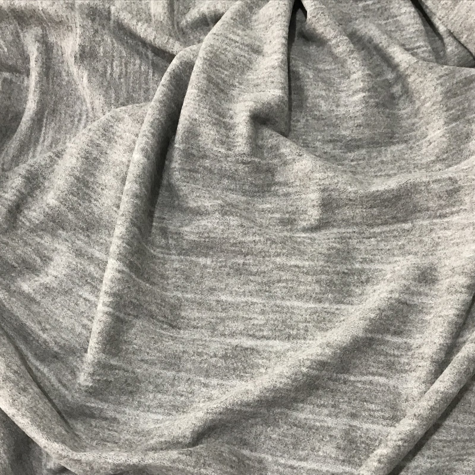 Boiled Wool - Gray Burnout Stripes