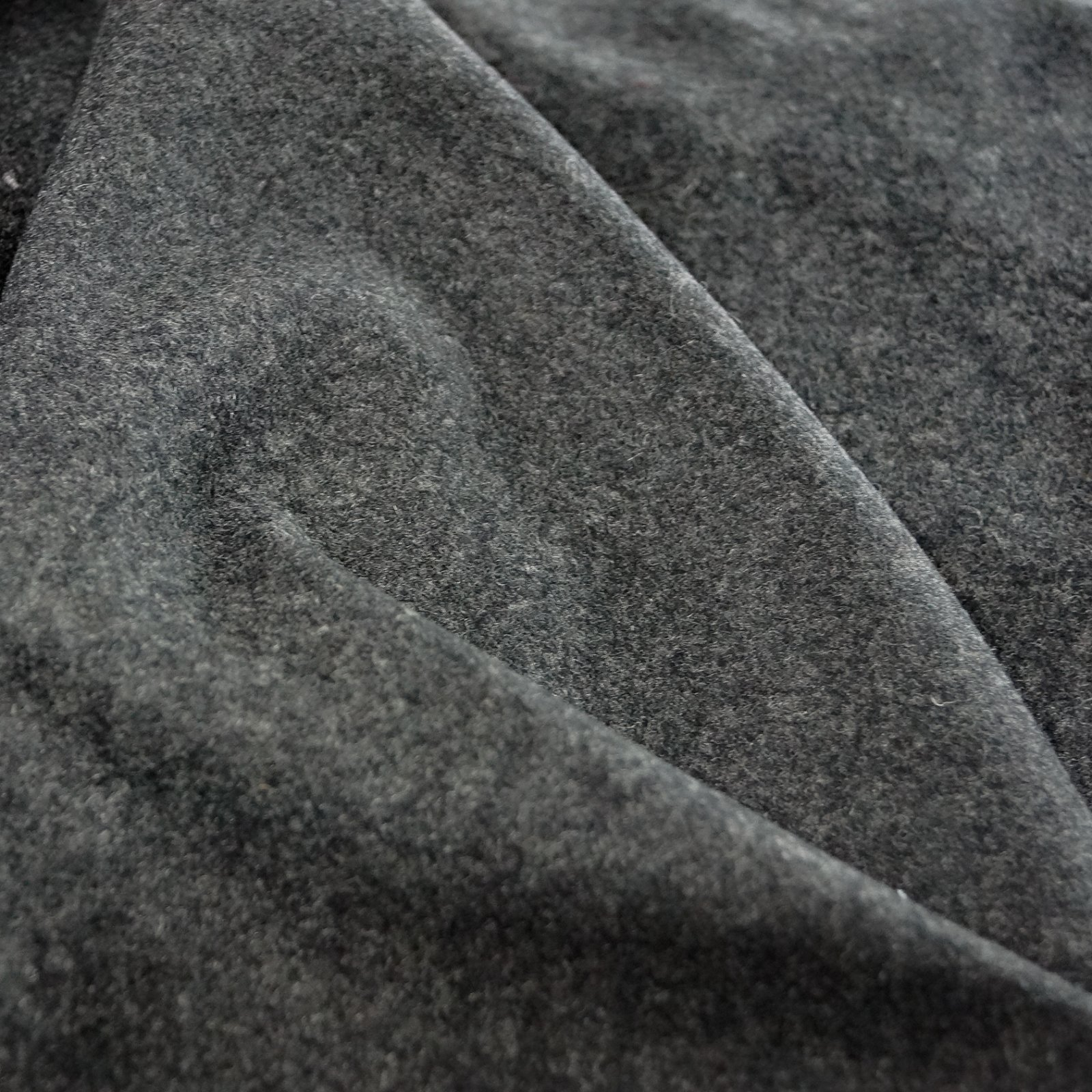 Wool - Charcoal Coating 100% Wool from Famous Maker