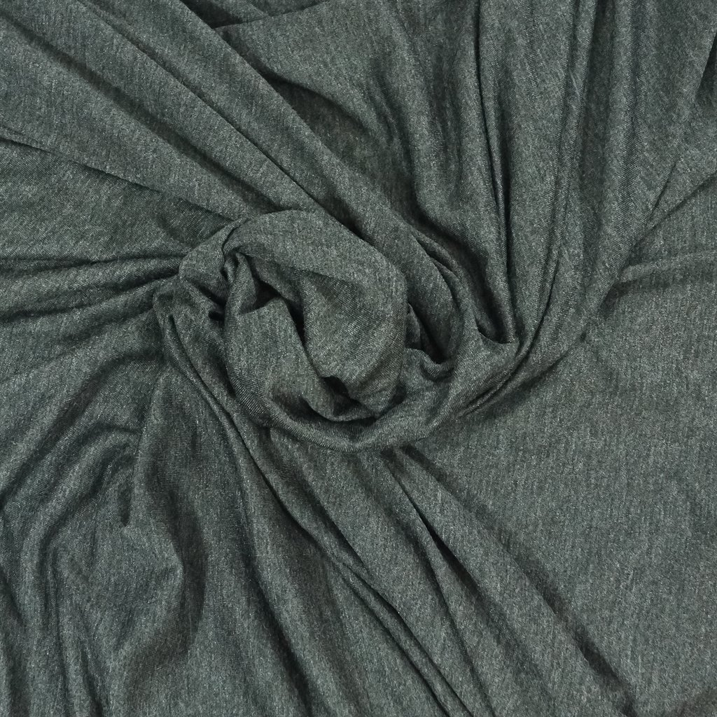 * Four Featured Fabrics: Rayon Jersey - Charcoal