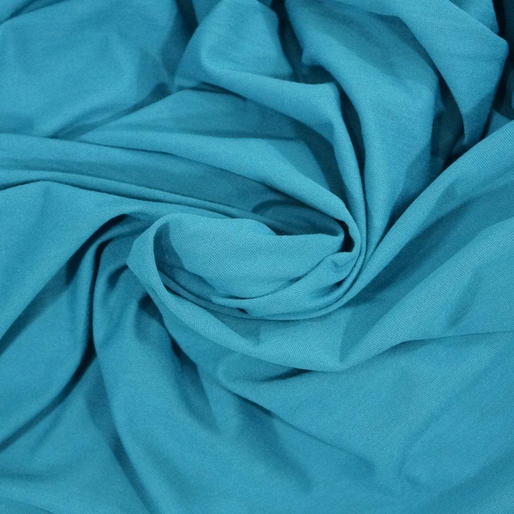 Cotton-Modal Knit - Oceanic Peacock Blue
