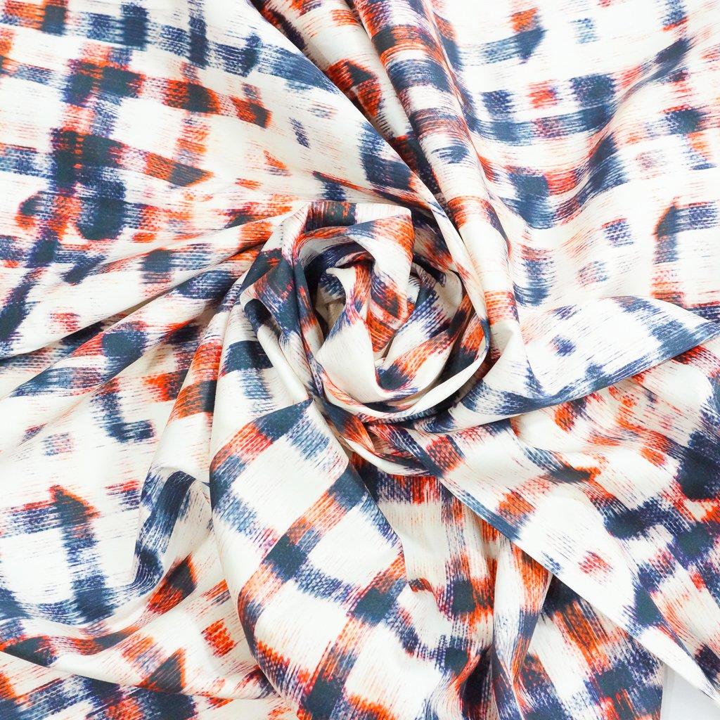 Cotton - Abstract Plaid Poplin
