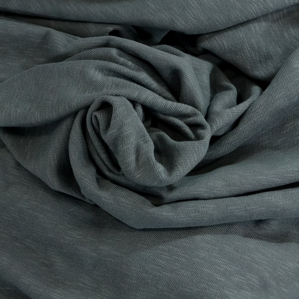 Cotton - Sweater Slub Knit - Charcoal