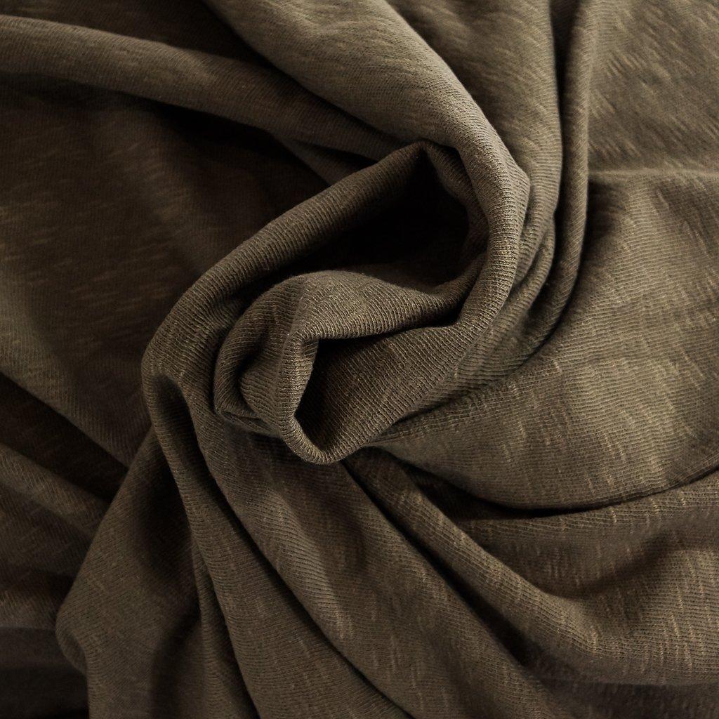 Cotton - Sweater Slub Knit - Milk Chocolate