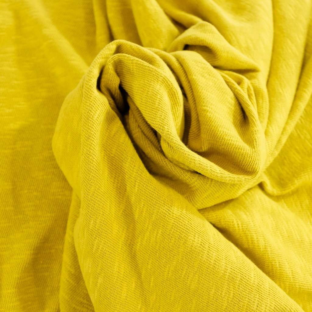 Cotton - Sweater Slub Knit - Mustard