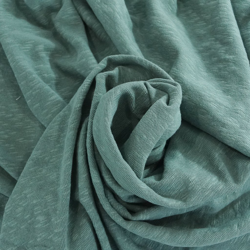 Cotton - Sweater Slub Knit - Sage