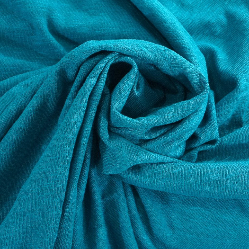Cotton - Sweater Slub Knit - Teal