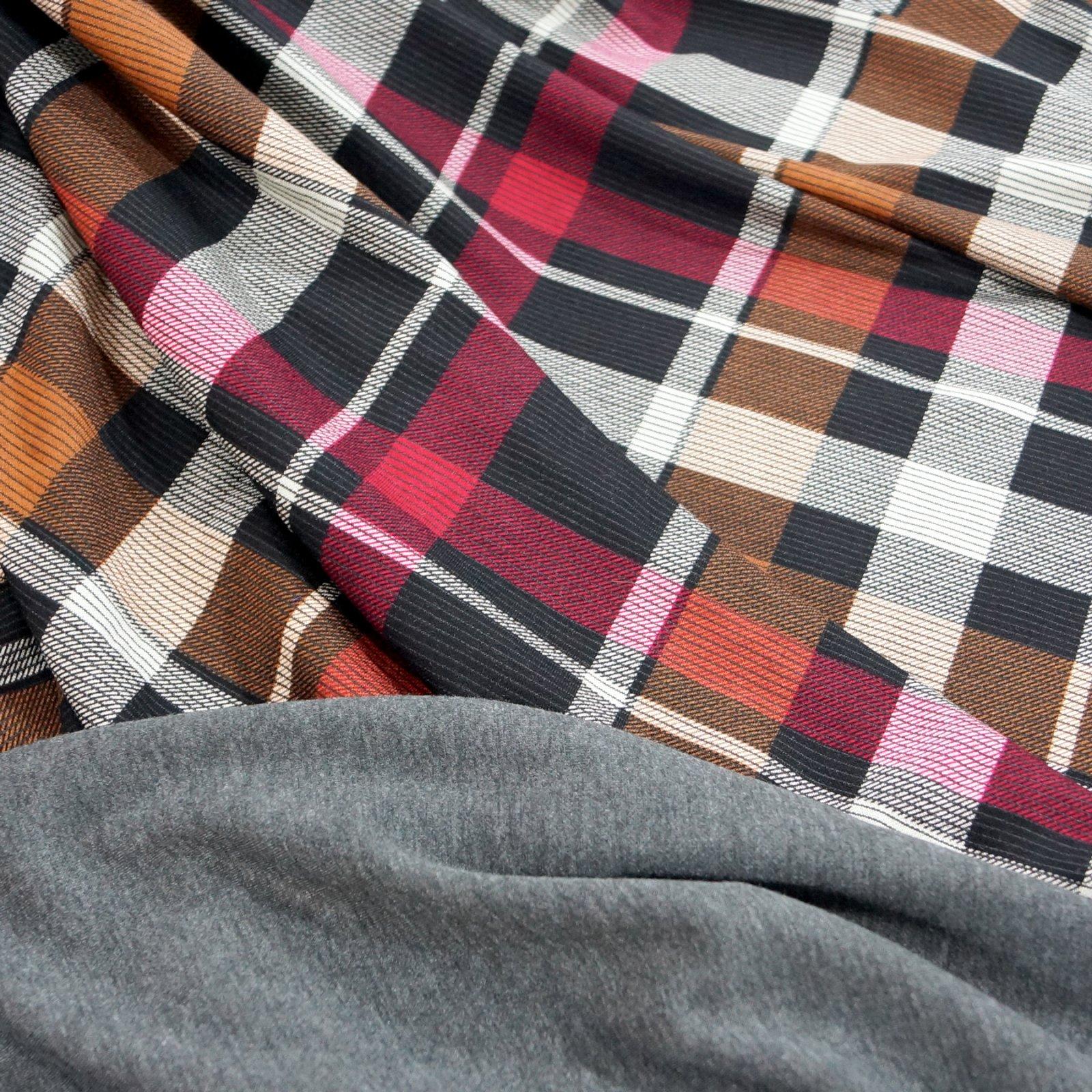 Rayon Double Knit - Crimson & Caramel Plaid