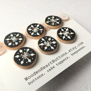Buttons - Snowflake Buttons