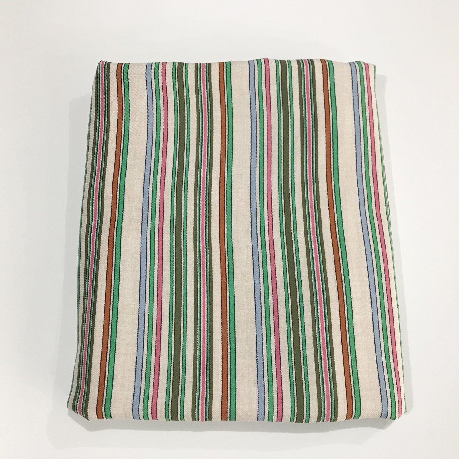 2 1/2 yards - Viscose Stripes - Jade & Pink