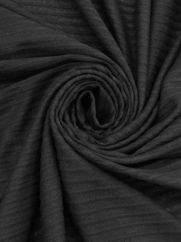 Stripe Weave Jersey - Black