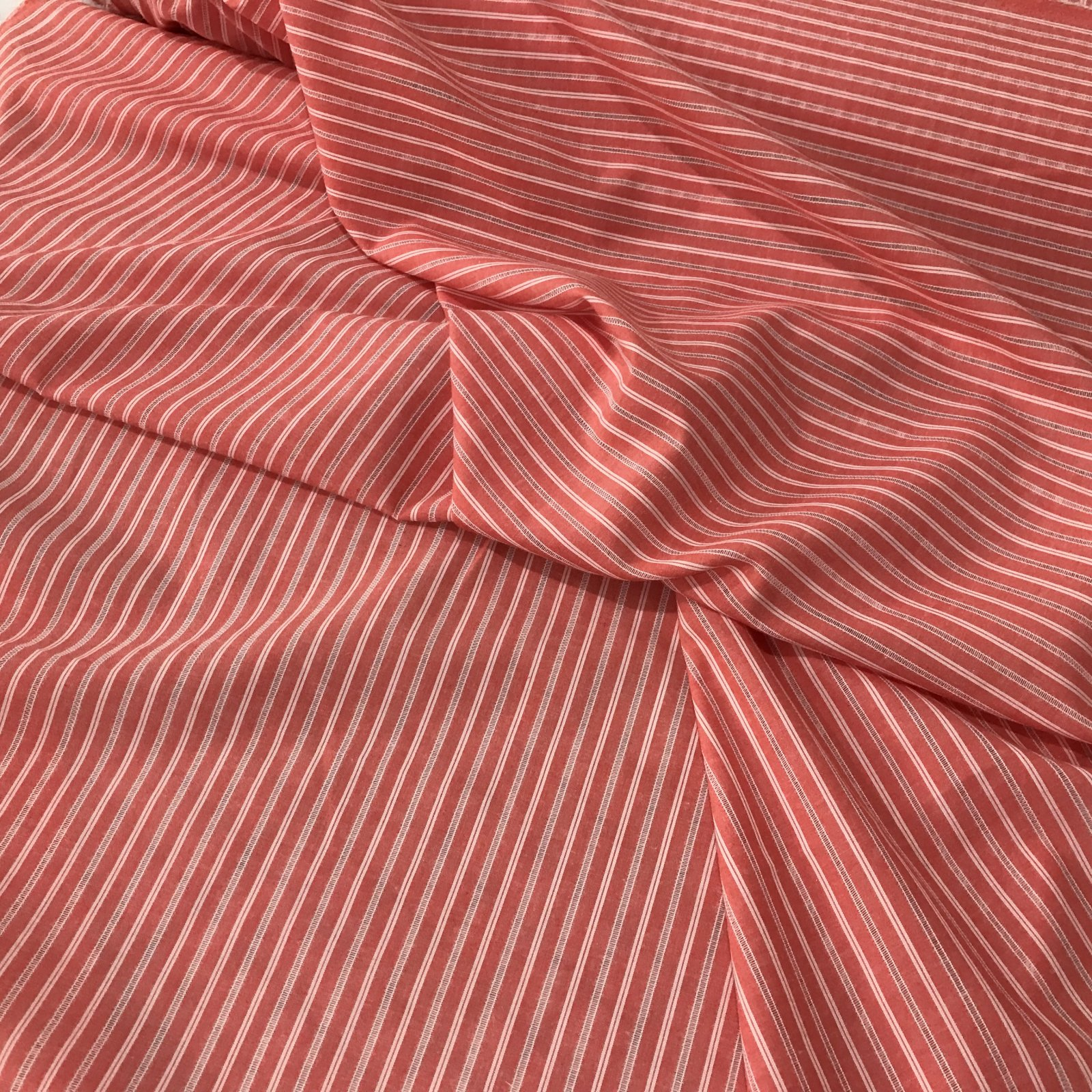 Cotton Woven - Red Spaced Stripes