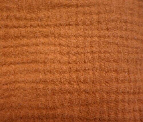 Cotton Double Gauze - Organic Ginger