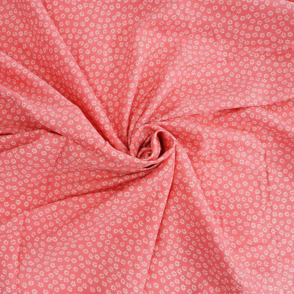 Organic Cotton Double Gauze - Pink Daisies