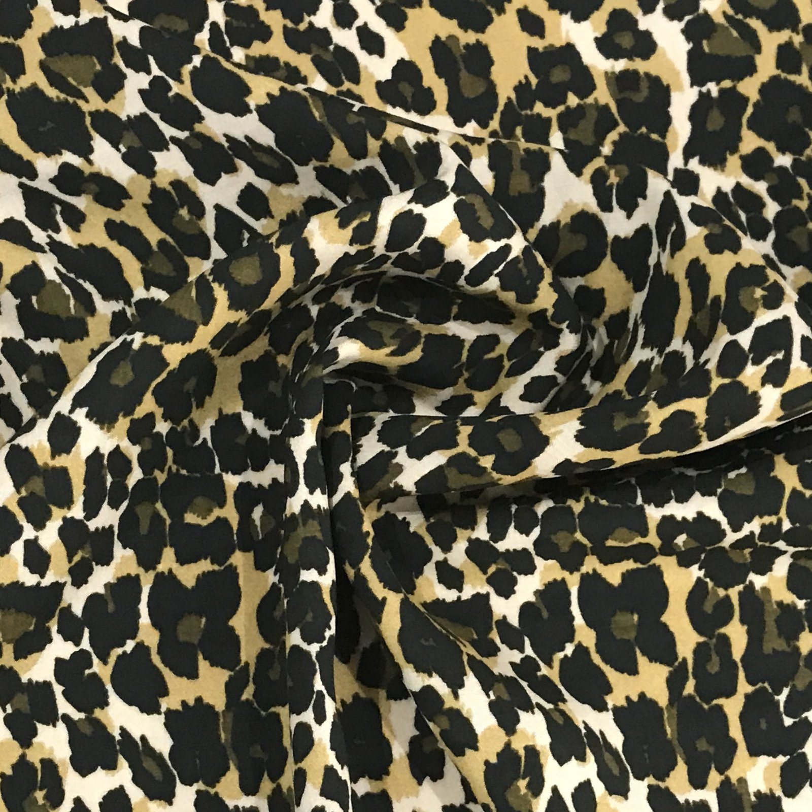 Viscose Challis - Cheetah Print