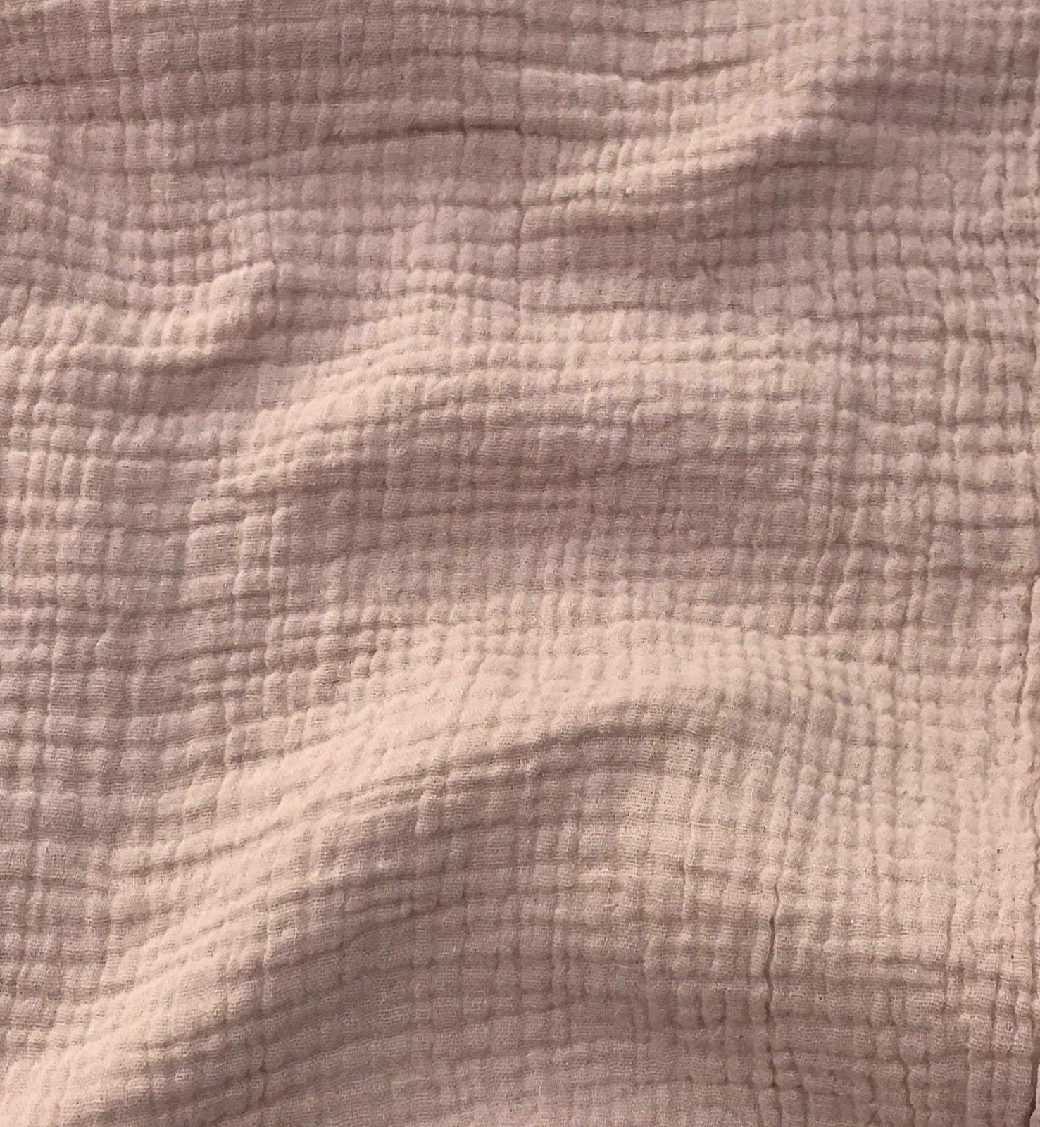 *Four Featured Fabrics: Cotton Double Gauze - Blush