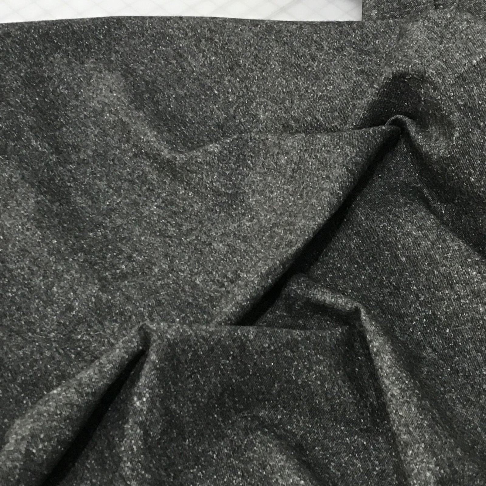 Flannel Shirting - Heathered Twill - Charcoal