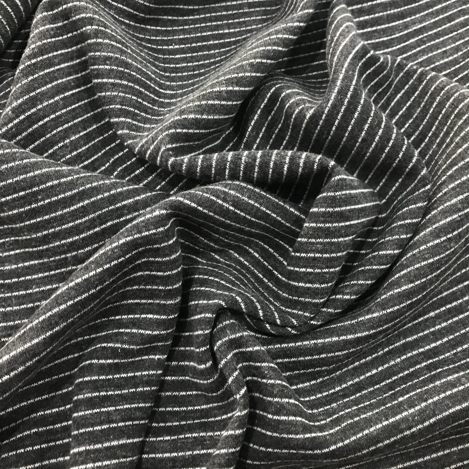 Knit - Charcoal and White Stripes