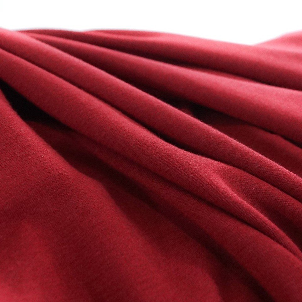 Bamboo-Cotton French Terry - Cranberry