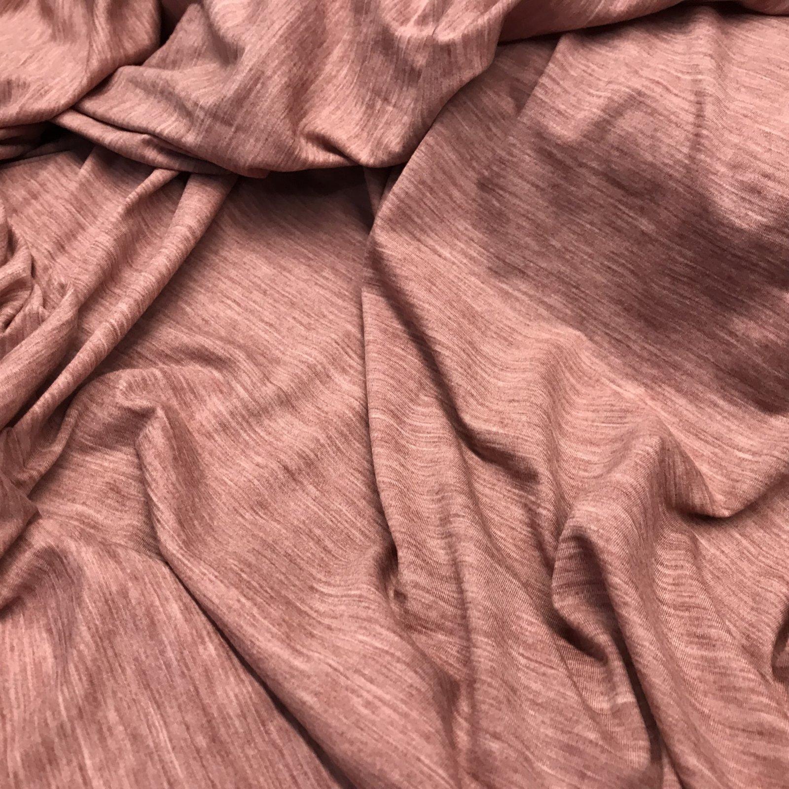 Merino Wool Jersey - Heathered Rose
