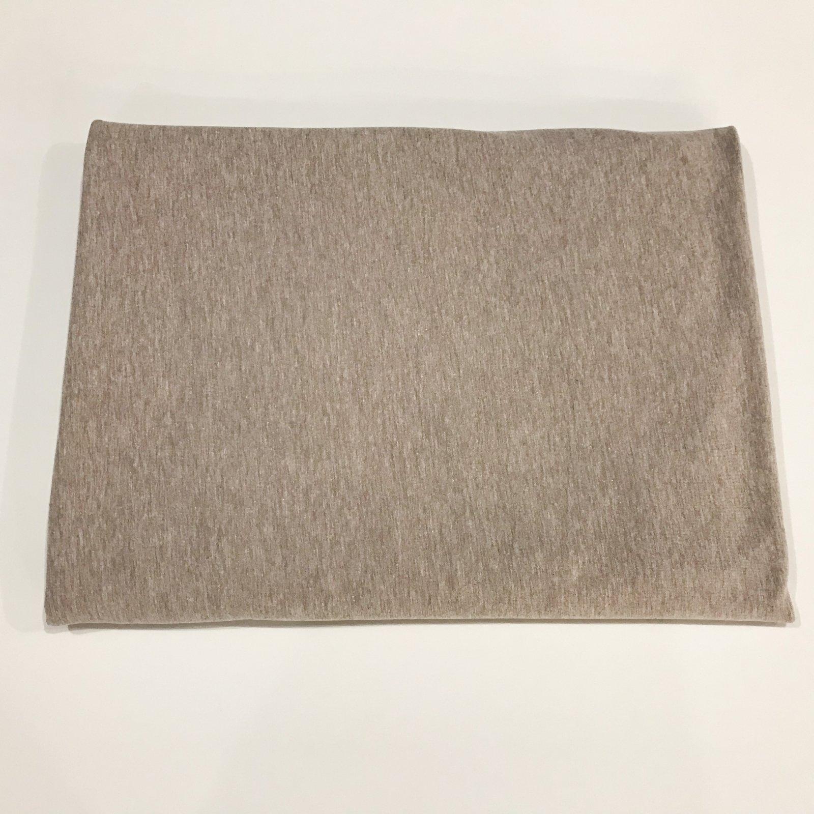 1 1/3 yards - Cotton Knit - Tan Melange