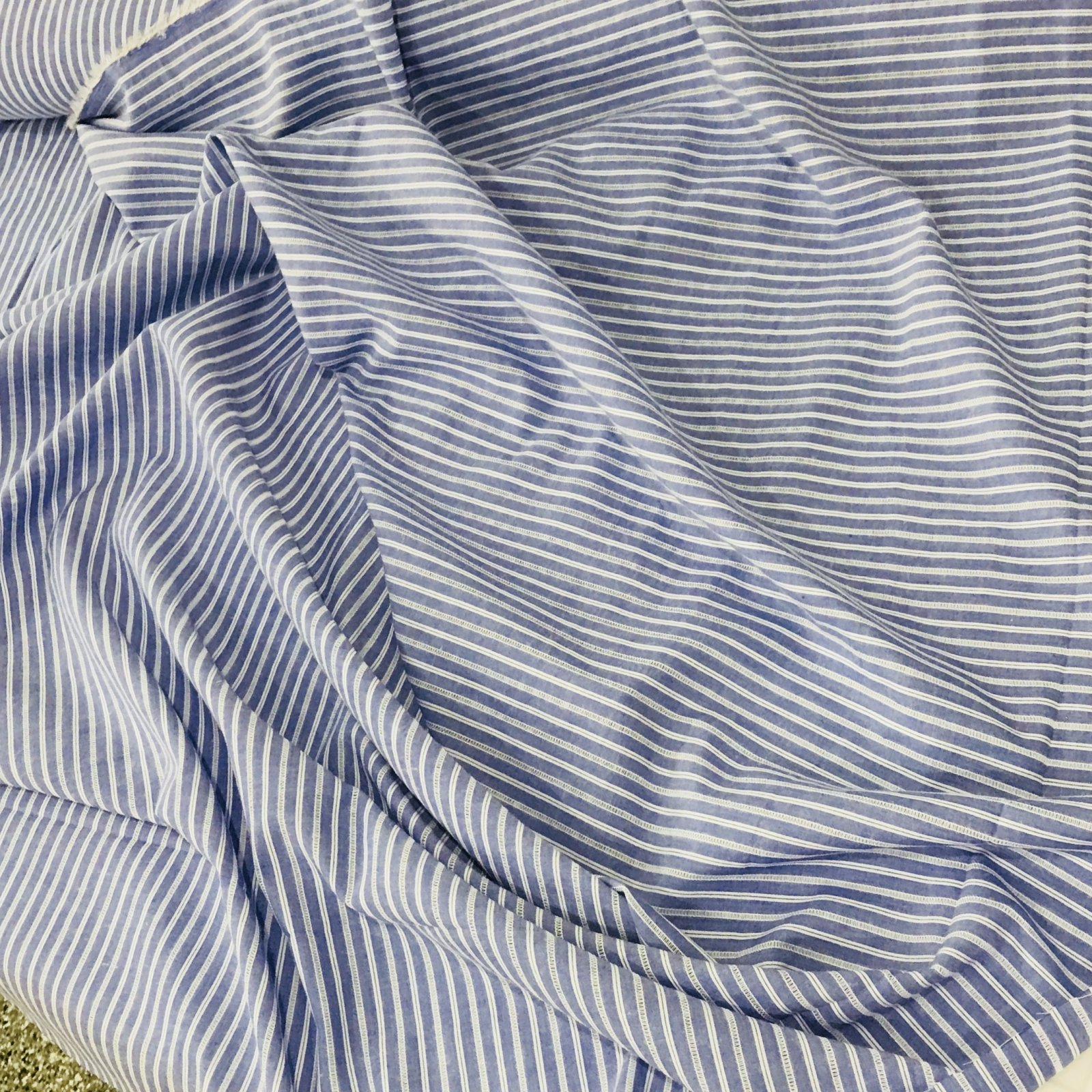 Cotton Woven - Blue Spaced Stripes