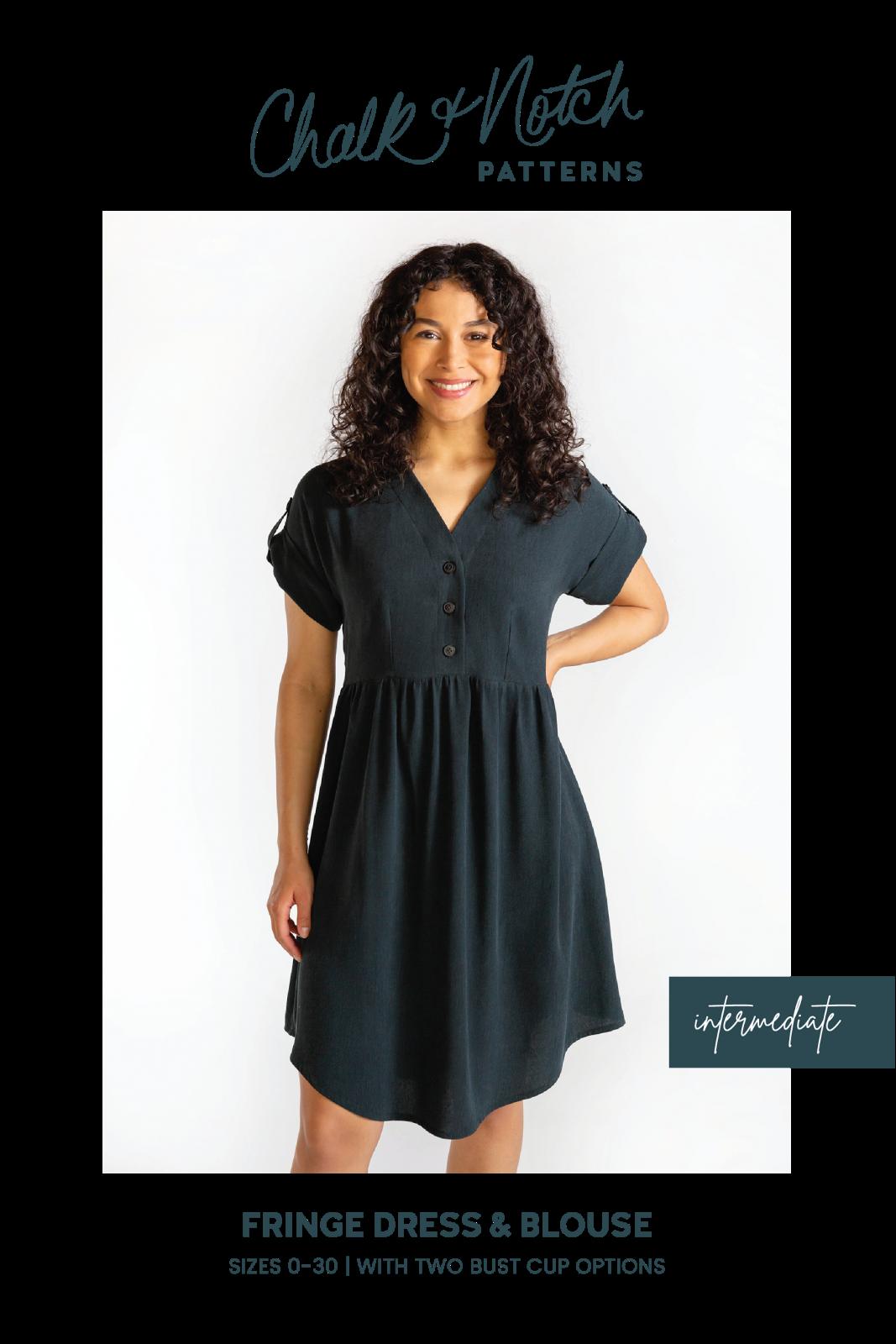 Chalk & Notch Patterns -  Fringe Dress and Blouse