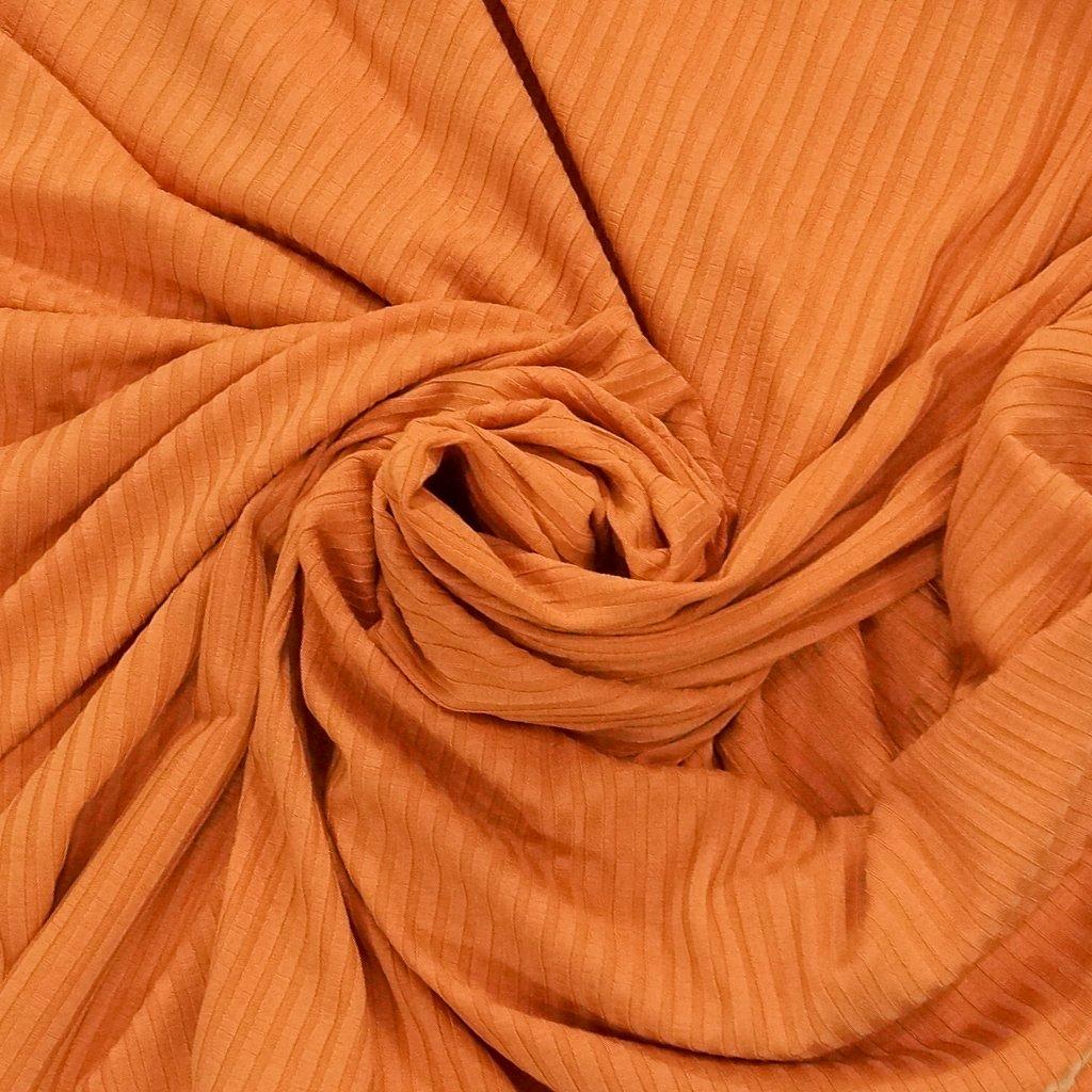 Tencel Knit Ribbing - Eileen Fisher Orange