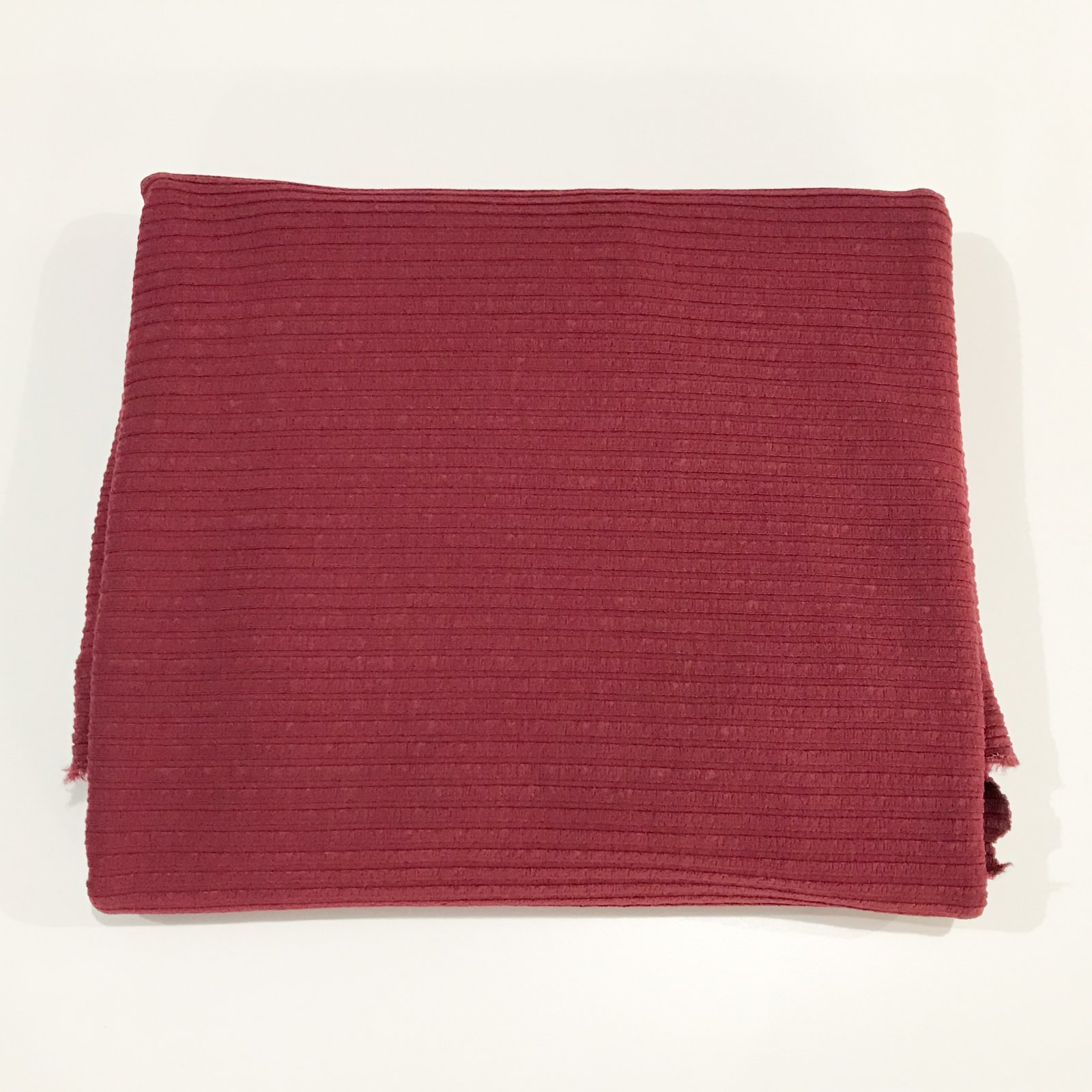 1 yard + 16 inches - Rayon Rib - 6 X 4 Wide Rib - Cranberry