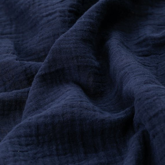 Cotton Double Gauze - Navy