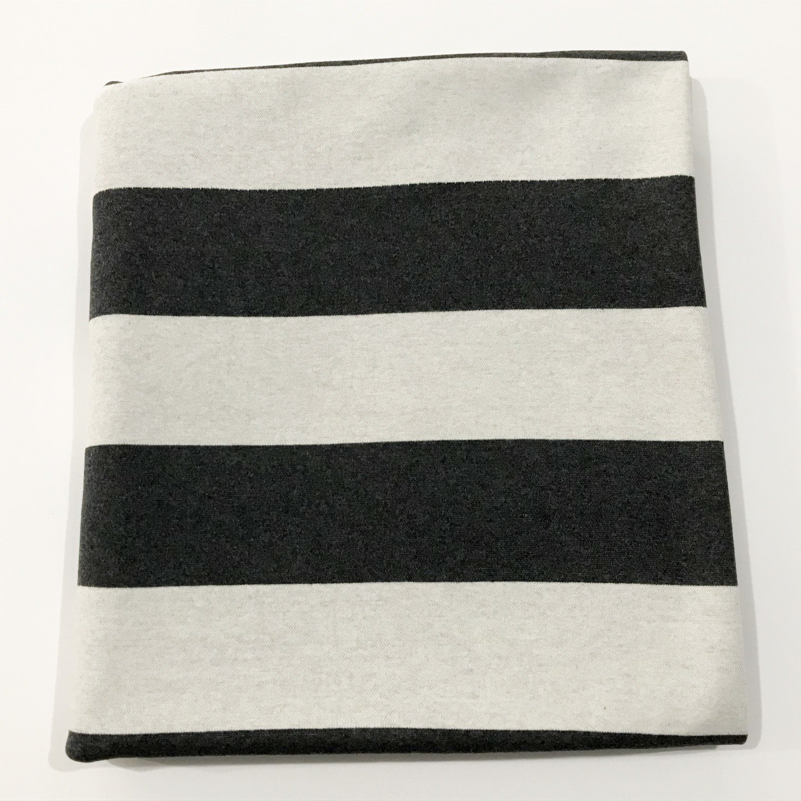 Double Faced Sweater Knit - Charcoal & Ivory - 2 1/2 yards