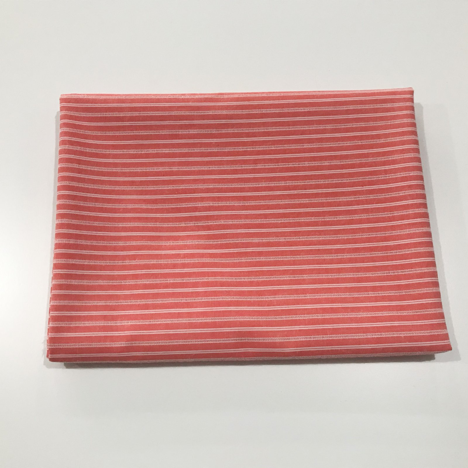 2 1/4 yard - Cotton Woven - Red Spaced Stripes