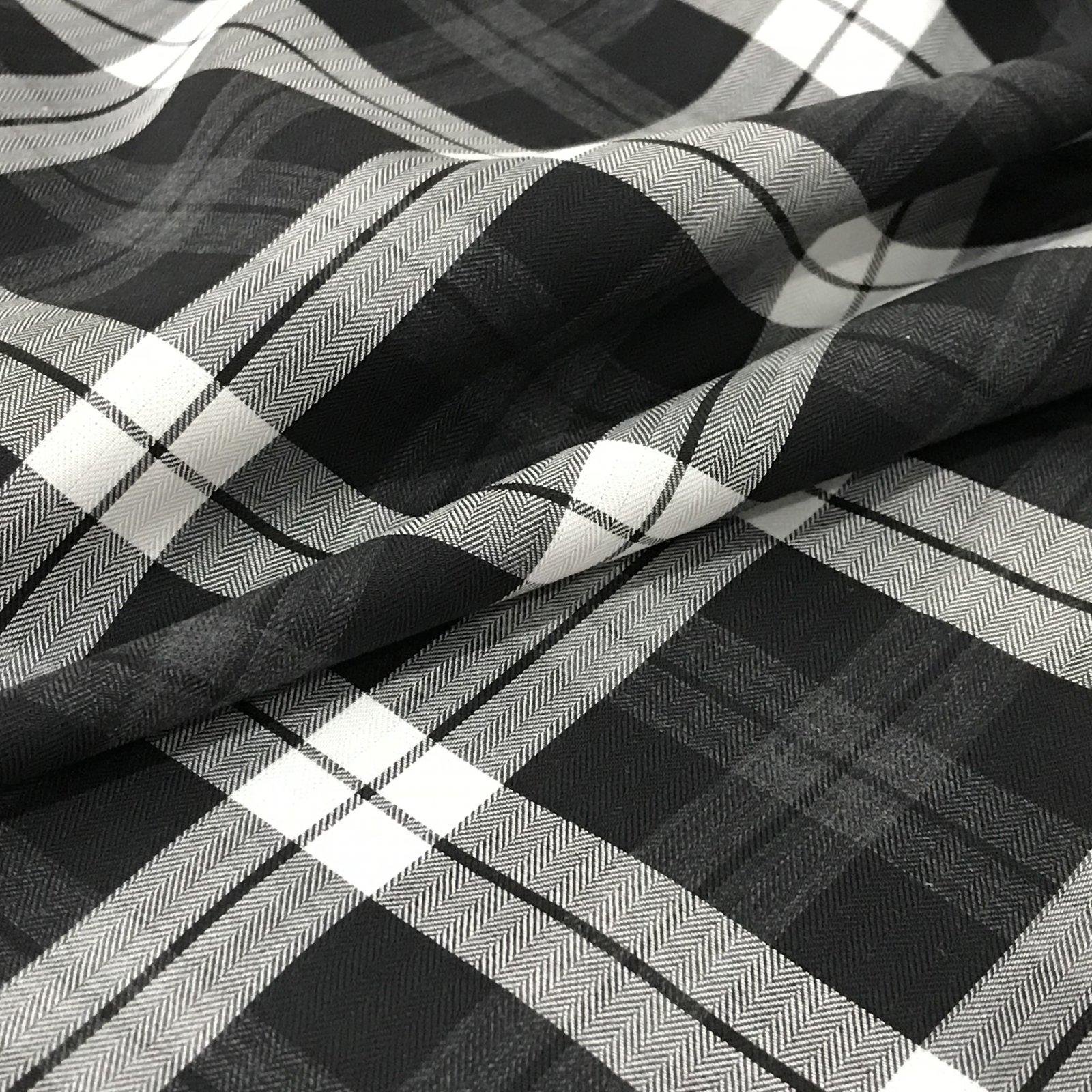 Cotton - Black & White Plaid