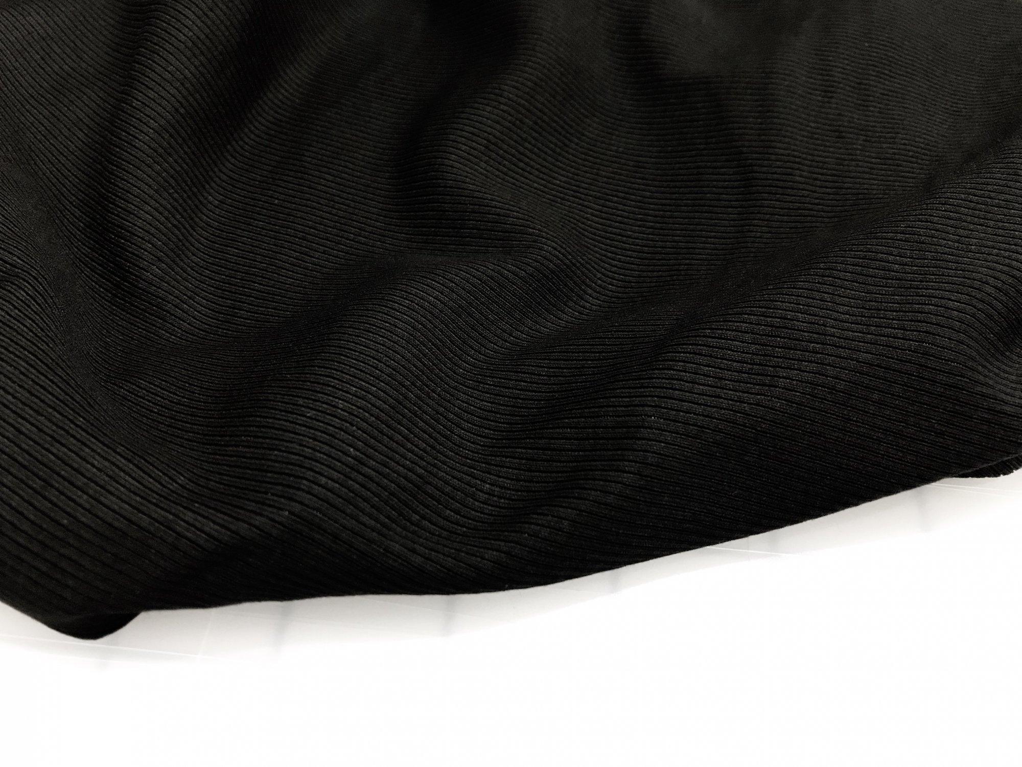 Rib Knit -  2 X 1 - Black