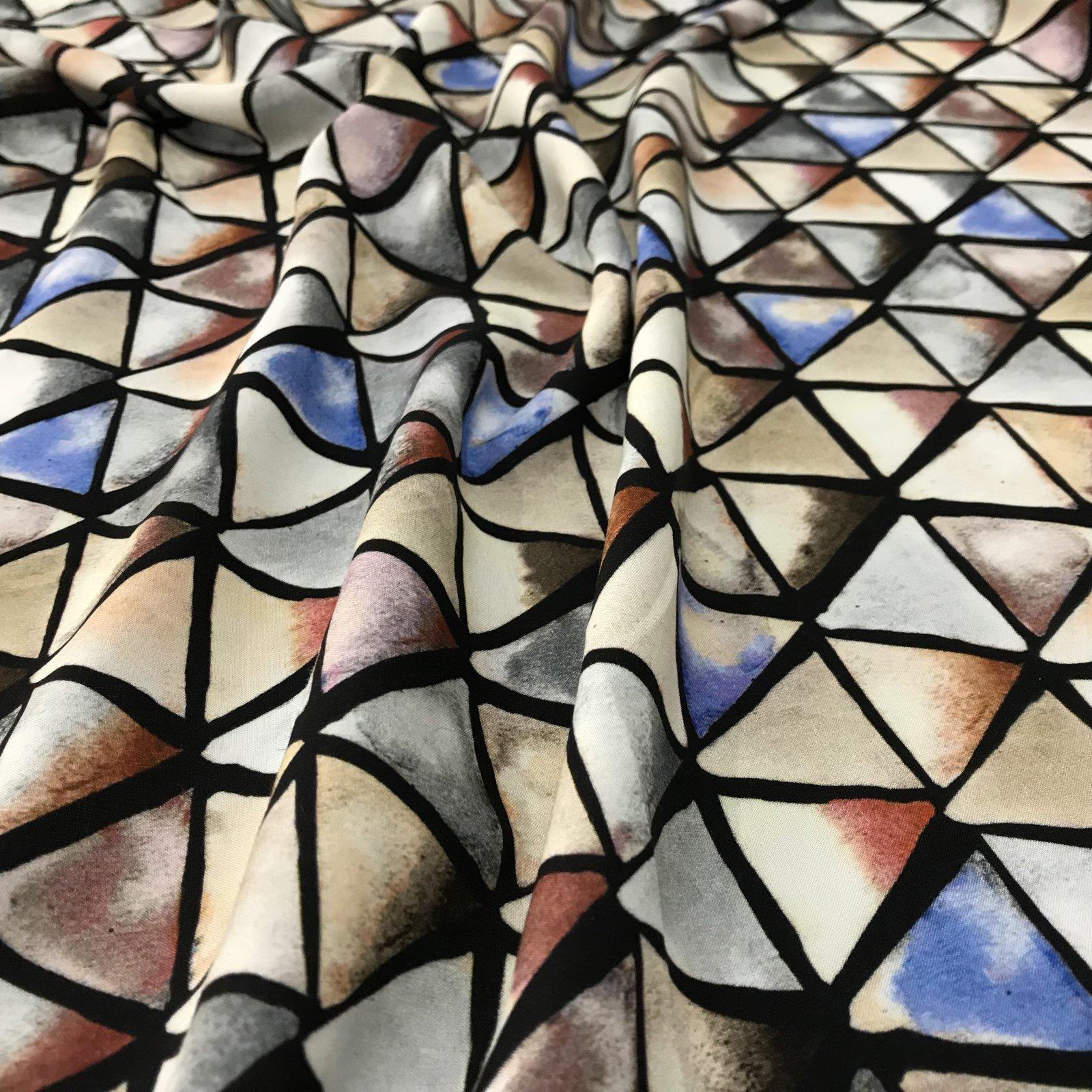 Viscose - Geometric Print