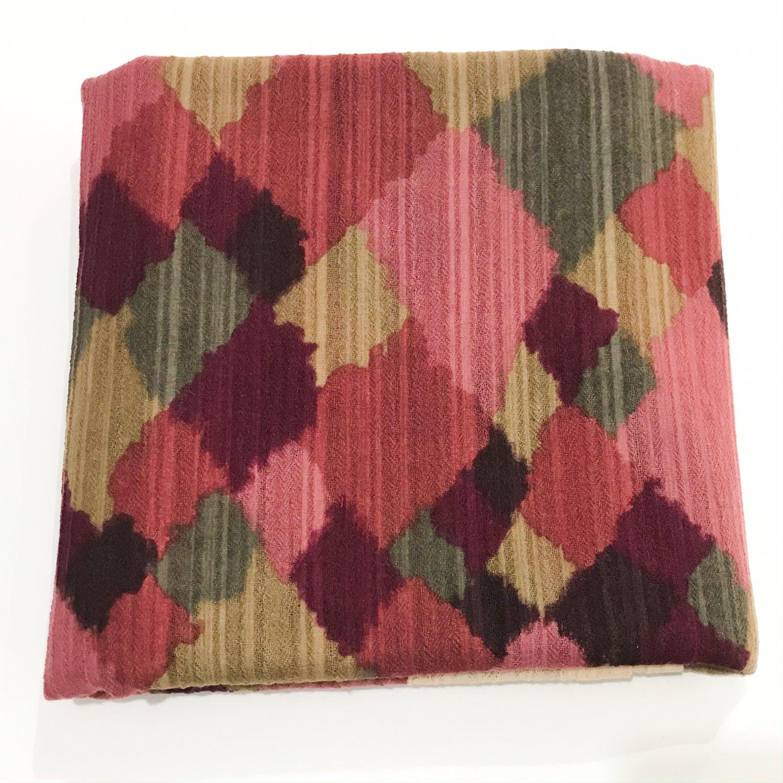 Wool Gauze Crepe - Watercolor in Harlequin - 1 5/8 yard