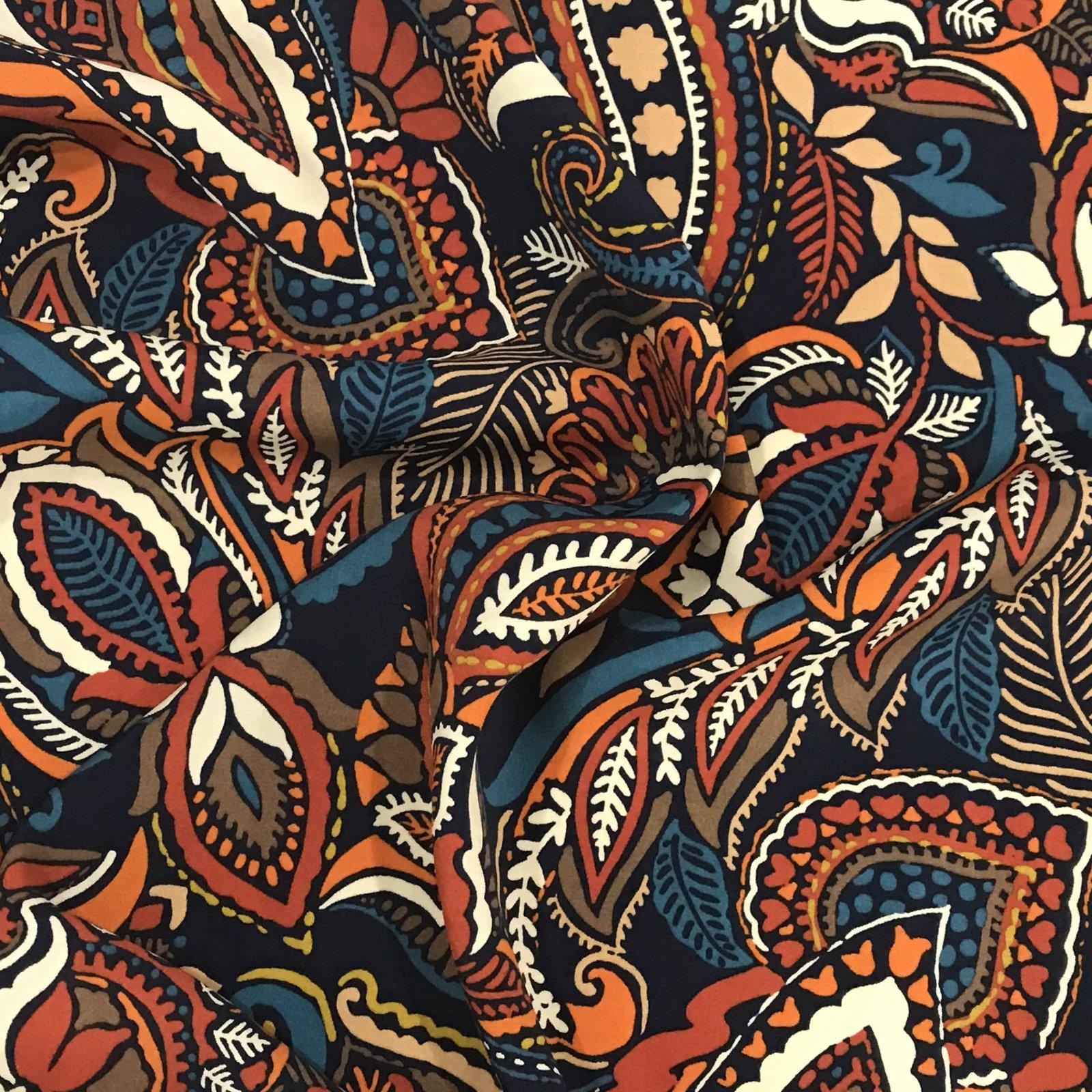 Viscose Challis - Boho Paisley Print