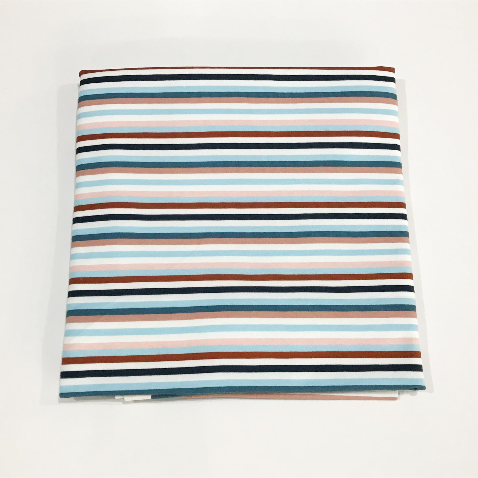 28 inches - Cotton Knit - Blue Stripes