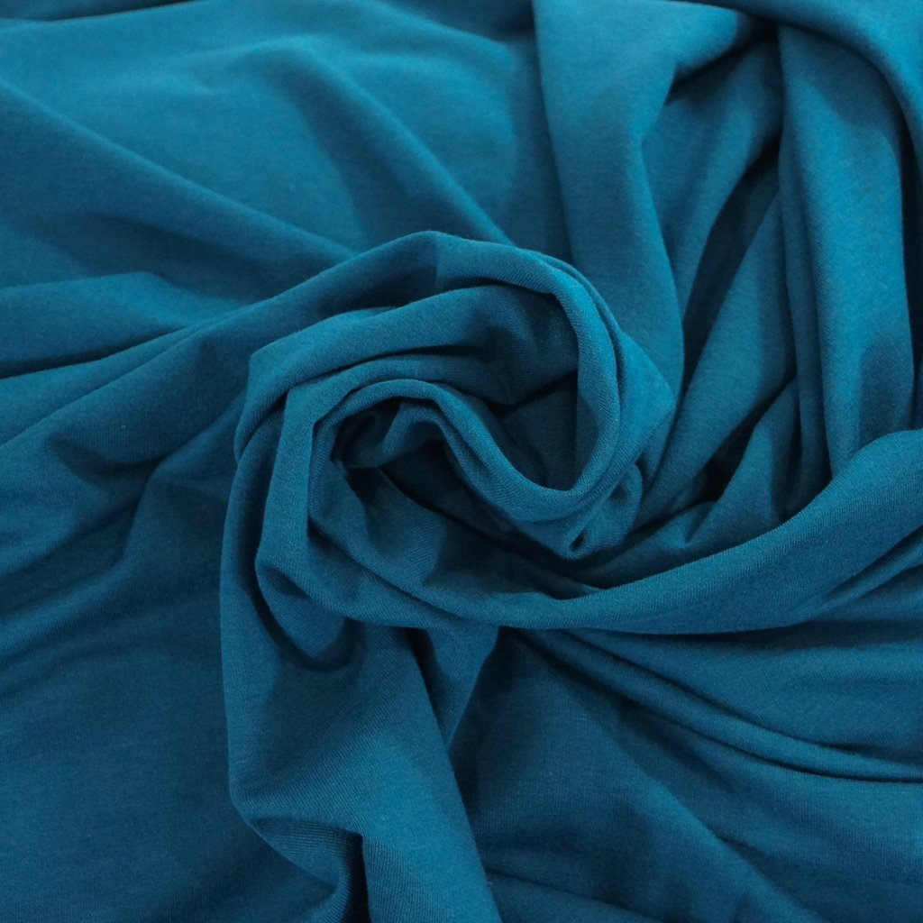 Bamboo-Cotton French Terry - Teal