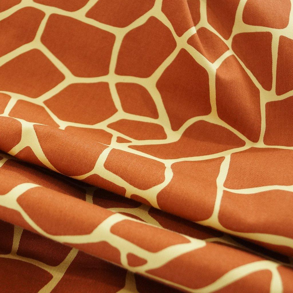 Cotton - Japanese Giraffe Print, Lightweight Twill