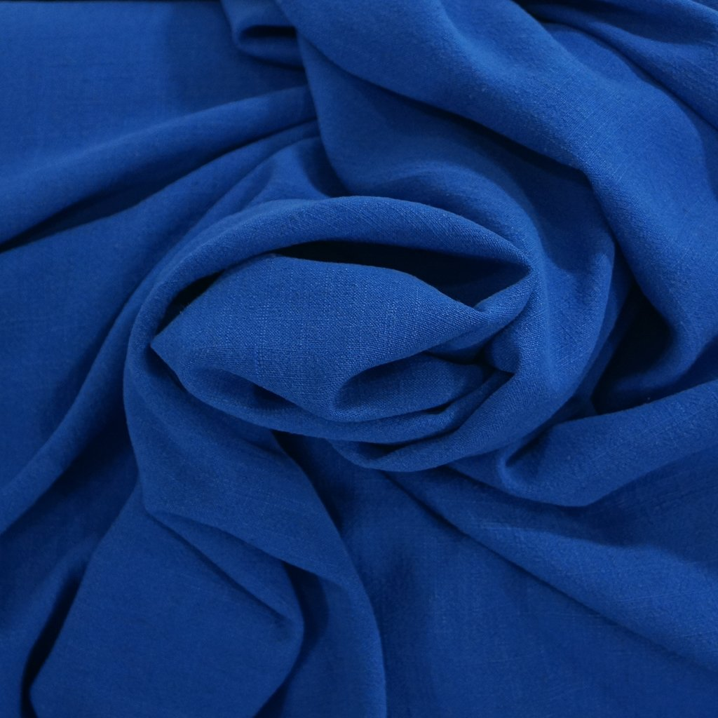 Grace Viscose & Linen Blend - Royal Blue